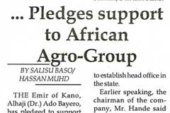 Byero Pledges support